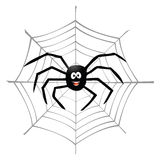 Araignée et spiderweb Image stock