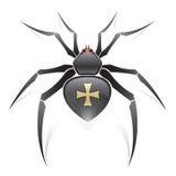 Araignée noire Images libres de droits