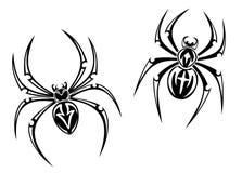 Araignées de danger illustration stock