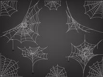 Araignées noires et vecteur différent de Web illustration stock
