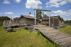 Araisi lake dwelling site Royalty Free Stock Images
