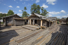 Araisi lake dwelling site Stock Images