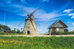 Araisi, Lettland, 2015, naturen och maler sikt Royaltyfria Bilder