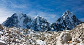 Arakam Tse, cholatse and Tabuche Peak Stock Image
