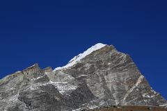 Arakam tse peak beside of everest basecamp from everest trek nep Royalty Free Stock Image