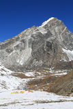 Arakamtse peak basecamp from everest trek Stock Image