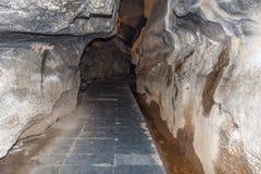 Araku谷,维沙卡帕特南安得拉邦,印度, 2017年3月04日:borra洞里面看法  免版税库存照片