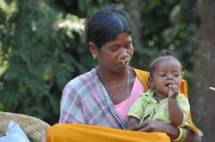 Araku谷, Vishakhapattnam,印度Tribals  库存图片