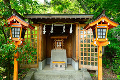 Arakura Sengen Shinto Shrine, Fujiyoshida, Japan. Arakura Sengen Shinto Shrine in Fujiyoshida, Japan Stock Photos