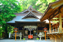 Arakura Sengen Shinto Shrine, Fujiyoshida, Japan royalty free stock photo