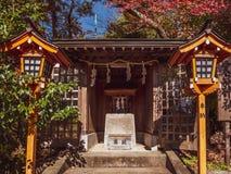 Arakura Sengen Shrine. Kawaguchi, Japan - November 1, 2018: Arakura Sengen Shrine in Fujiyoshida, Yamanashi Prefecture near to Chureito Pagoda, It was built as a royalty free stock photos