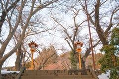 Arakurayama Sengen Park at Fujiyoshida,Japan. The location to see fuji mountain Stock Images