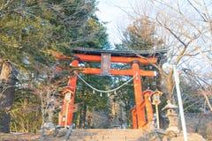 Arakurayama Sengen Park at Fujiyoshida,Japan. The location to see fuji mountain Royalty Free Stock Photos