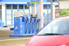 Aral gas pump. Aral gasoline pump with a great copy space opportunity in the driving by car Royalty Free Stock Image