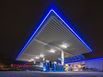 Aral gas station. HANNOVER, GERMANY -JANUARY  23, 2015: Aral gas station at night in Hannover, Germany Royalty Free Stock Photography