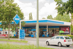 Aral gas station. Aral petrol station with copy space Stock Photography