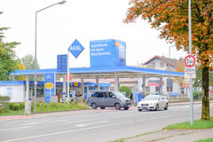 Aral gas station. Aral petrol station with copy space Stock Images