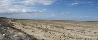 Aral Overzees, Usturt Plateau, zuiden Royalty-vrije Stock Foto