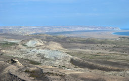 Aral Sea. From the Plateau Usturt in summer royalty free stock photos