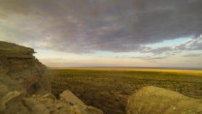 Aral Sea Time-Lapse around Sunset stock video footage