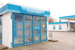 Aral SuperWash. Car wash at an Aral gas station with copy space to the right Stock Photo