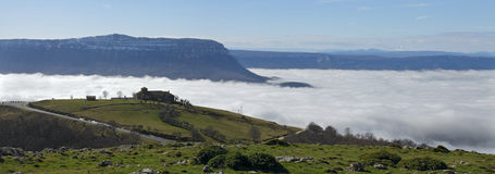 Aralar und Montierung San Donato, Navarre Stockfotos
