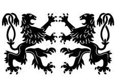 Araldic logo som föreställer en grip stock illustrationer