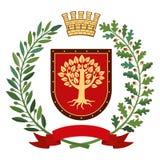 Albero di quercia simbolo di resistenza fotografia stock for Albero ulivo vettoriale