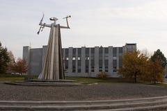 Araldo della scultura di libertà in Silale, Lituania immagine stock