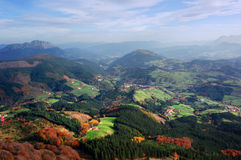 Aramaio valley. With mountains and some villages. Basque Country Royalty Free Stock Photos