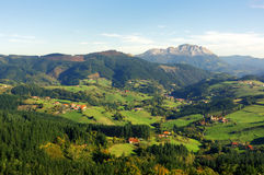 Aramaio valley with Udalaitz mountain. Basque Country Royalty Free Stock Images