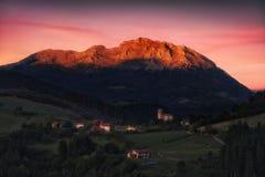 Aramaio valley and Udalaitz mountain Stock Photo