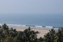 Arambol beach view, Goa, India. Arambol beach aerial view, Goa, India Royalty Free Stock Photos