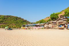 Arambol beach, Goa. Beauty Arambol beach landscape, Goa state, India Royalty Free Stock Photography