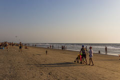 ARAMBOL BEACH, GOA, INDIA - FEBRUARY 23, 2017: Flea market on Ar Royalty Free Stock Photos