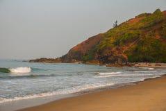 Arambol beach, Goa state, India. Beauty Arambol beach landscape, Goa state, India Royalty Free Stock Image