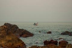 Arambol beach, Goa state, India. Rocks, stones, sea. Beauty Arambol beach landscape Goa state India Stock Image