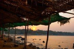 Arambol beach, Goa state, India. Sunset. Stock Photo