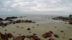Arambol beach, Goa. View to Arambol beach, Goa India stock footage