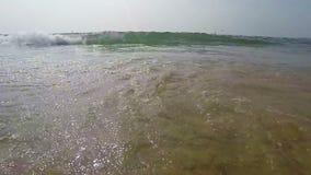 Arambol beach, Goa. View to Arambol beach, Goa India. Slow motion stock video footage