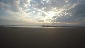 Arambol beach, Goa. View to Arambol beach, Goa India. Sunset. 4k video stock footage