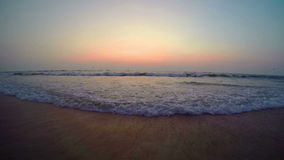 Arambol beach, Goa. View to Arambol beach, Goa India. Sunset. Slow motion stock video footage