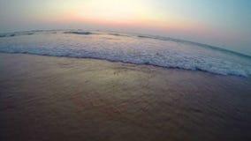 Arambol beach, Goa. View to Arambol beach, Goa India. Sunset. Slow motion stock video