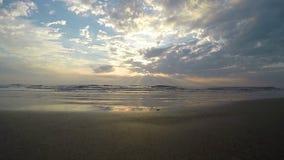 Arambol beach, Goa. View to Arambol beach, Goa India. Sunset. Slow motion stock footage