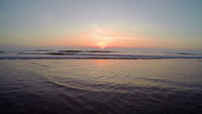 Arambol beach, Goa. View to Arambol beach, Goa India. Sunset. Slow motion wide angle stock footage