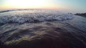 Arambol beach, Goa. View to Arambol beach, Goa India. Sunset. Slow motion wide angle stock video footage