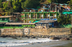 Arambol beach huts Stock Photo