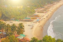 Arambol Beach. View from the sky, from above, aerophoto, point stock photos