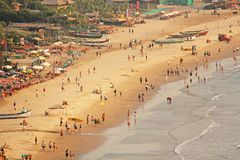 Arambol Beach. View from the sky, from above, aerophoto, point stock image
