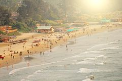 Arambol Beach. View from the sky, from above, aerophoto, point stock images